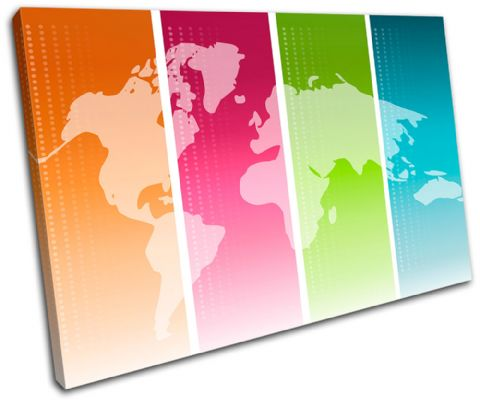 World Atlas Funky Maps Flags - 13-1125(00B)-SG32-LO